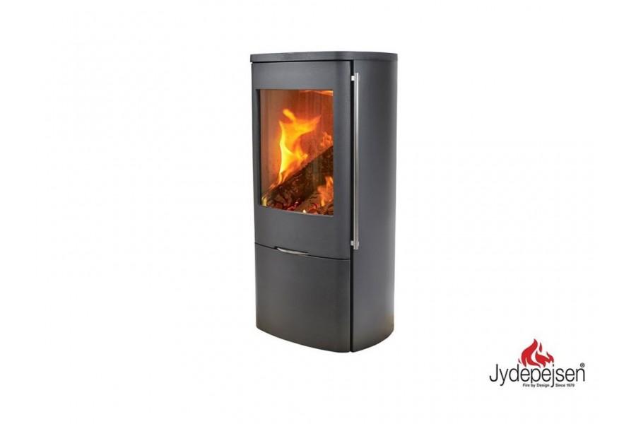 Jydepejsen Senza steel (Outside Air) houtkachel - GREY (uitverkoop)