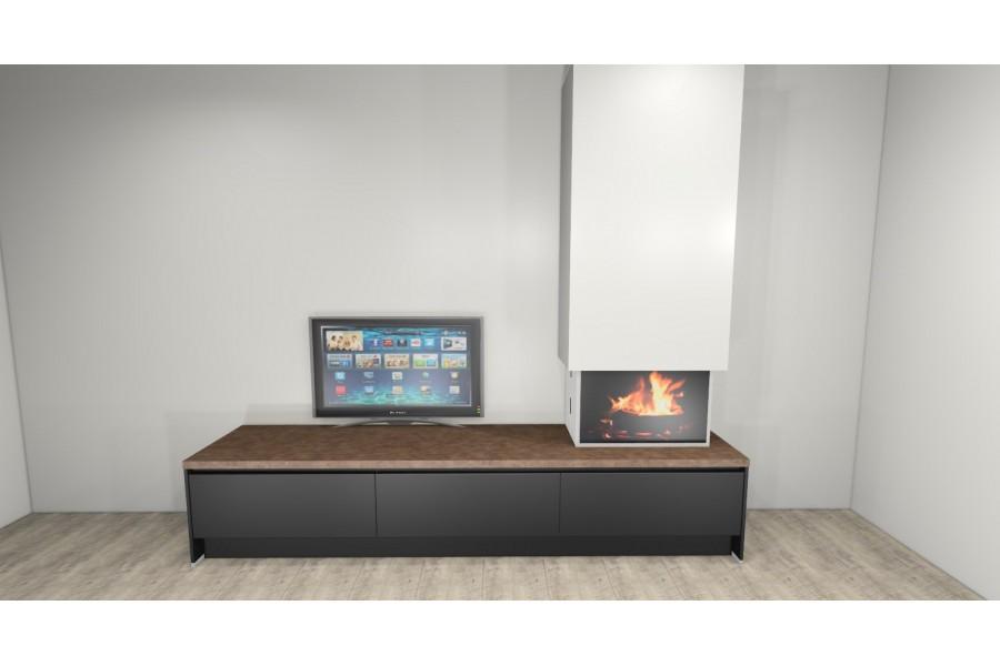 Charlton & Jenrick Infinity 4D Ecoflame 890 met design meubel