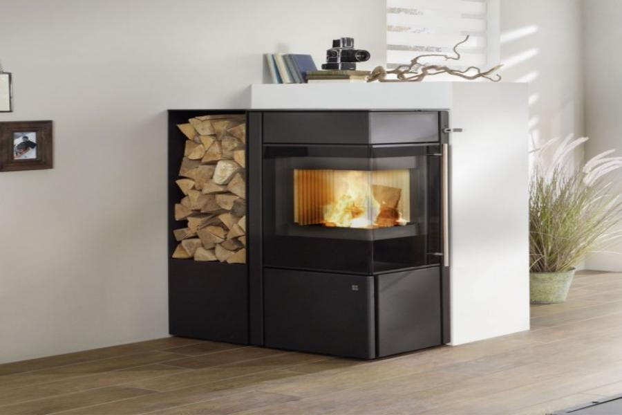 Olsberg Iriga Compact steel black houtkachel (uitverkoop)