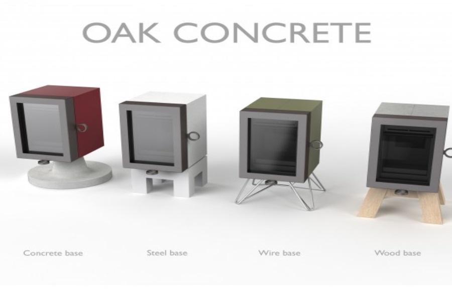 Wanders Oak Concrete houtkachel